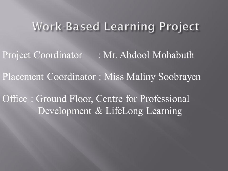 Project Coordinator : Mr.