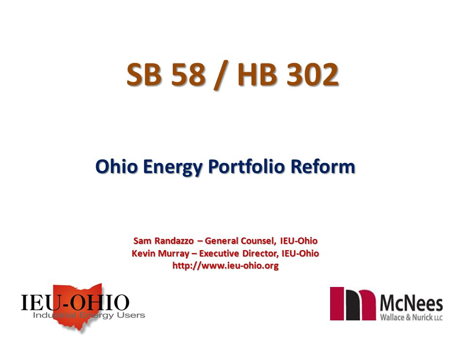 Ohio's Technology and PUCO Focused Portfolio Obligations Supply & Demand Side Supply Side Ohio's portfolio requirements require an electric distribution utility, by 2025 and thereafter, to provide from alternative energy resources a portion of the electricity supply required to satisfy its Standard Service Offer obligation ( SSO – the default supply of all competitive services such as generation supply).