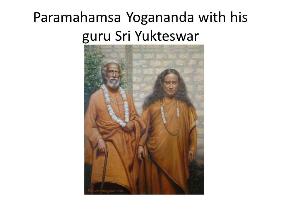 Paramahamsa Yogananda with his guru Sri Yukteswar