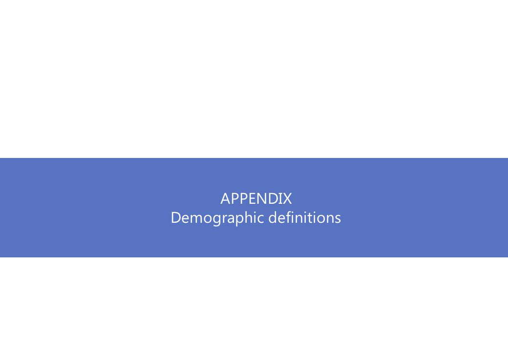 APPENDIX Demographic definitions