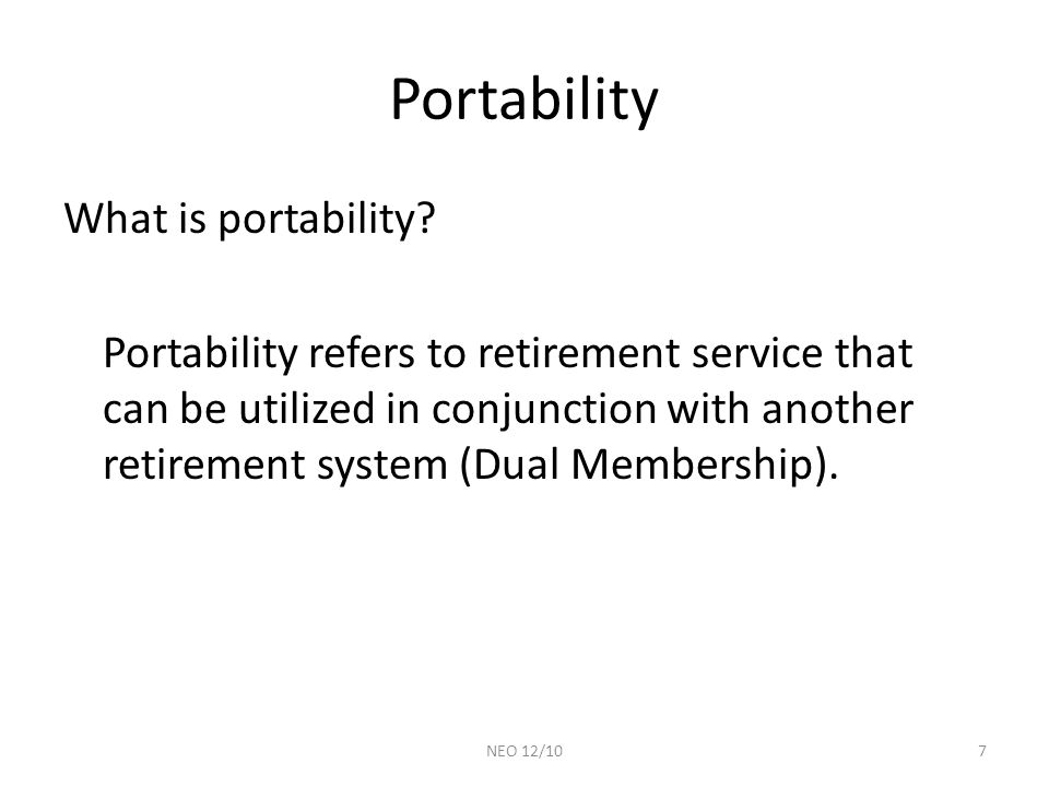 Portability What is portability.