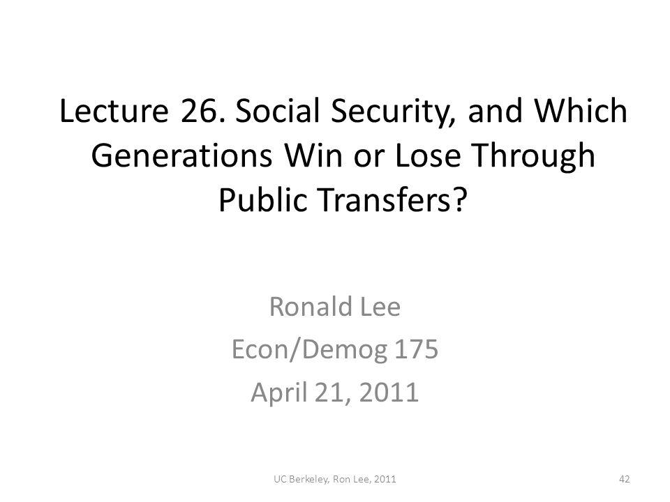 UC Berkeley, Ron Lee, 201142 Lecture 26.