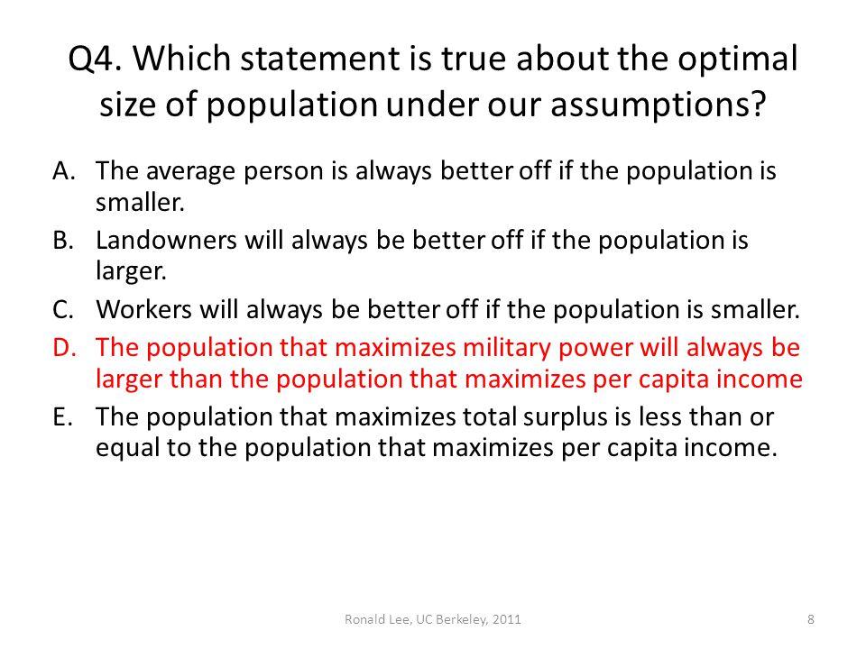 Ronald Lee, UC Berkeley, 2011 Q4.