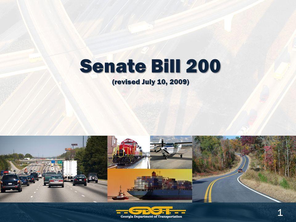 Senate Bill 200 (revised July 10, 2009) 1