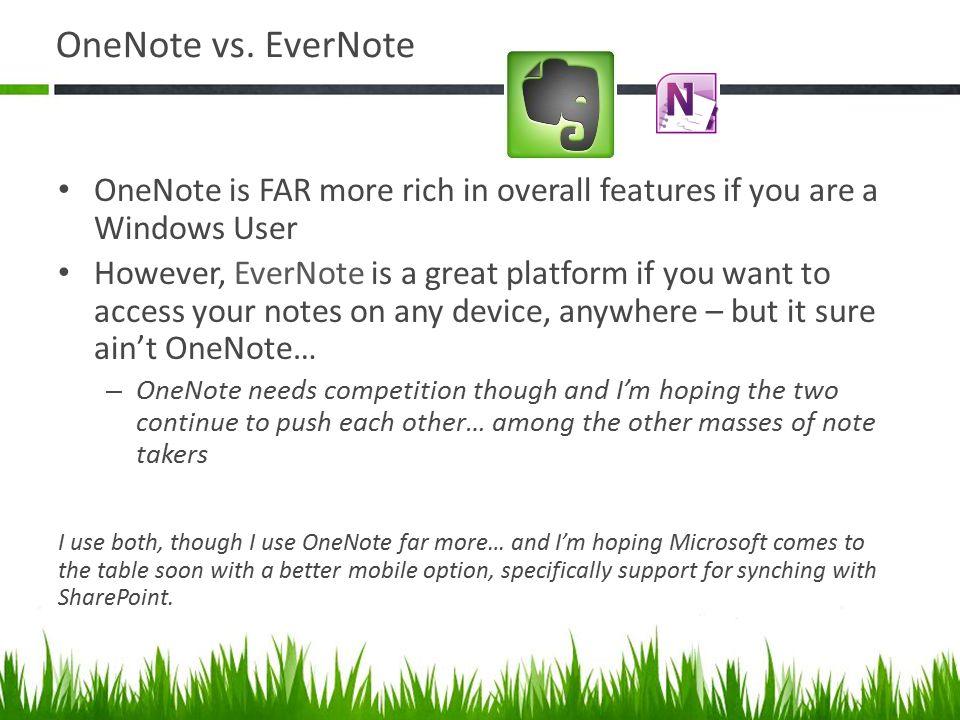 OneNote vs.