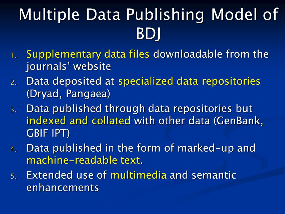 Multiple Data Publishing Model of BDJ 1.