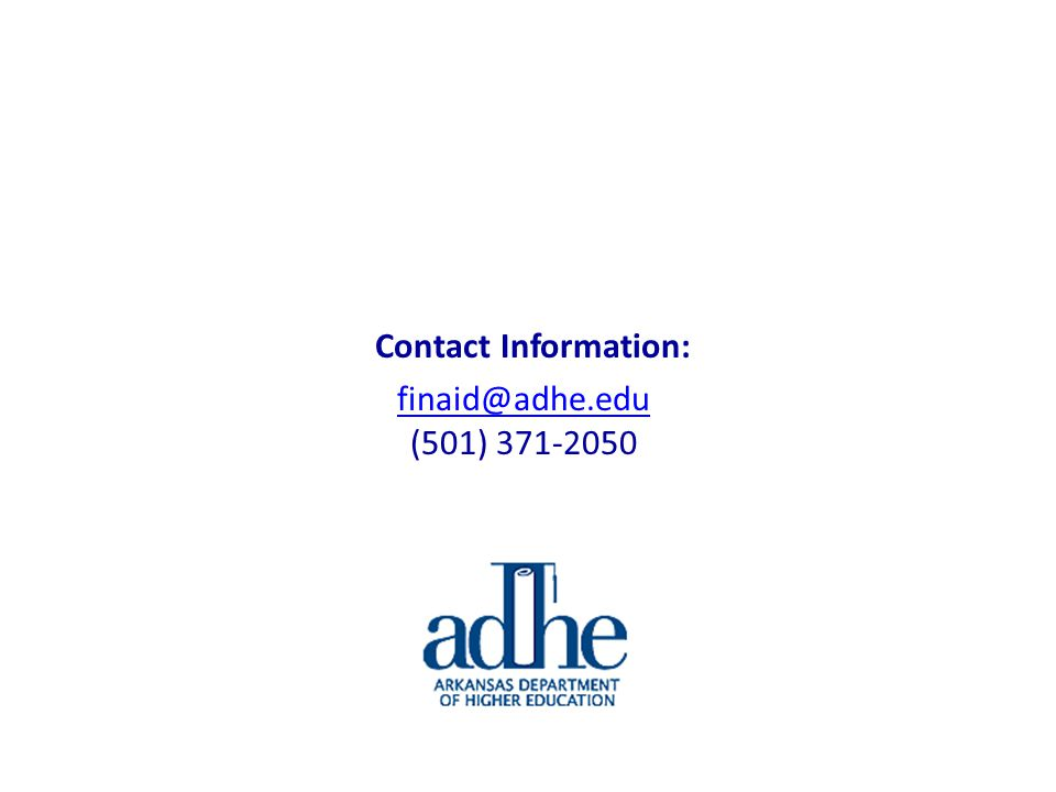 Contact Information: finaid@adhe.edu (501) 371-2050