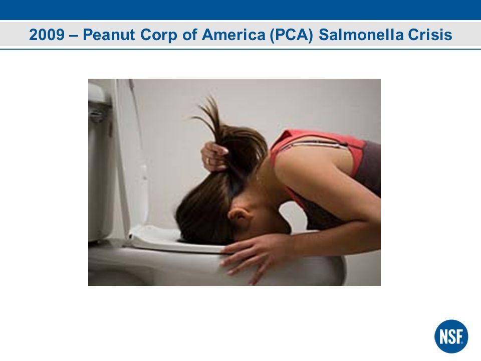 2009 – Peanut Corp of America (PCA) Salmonella Crisis
