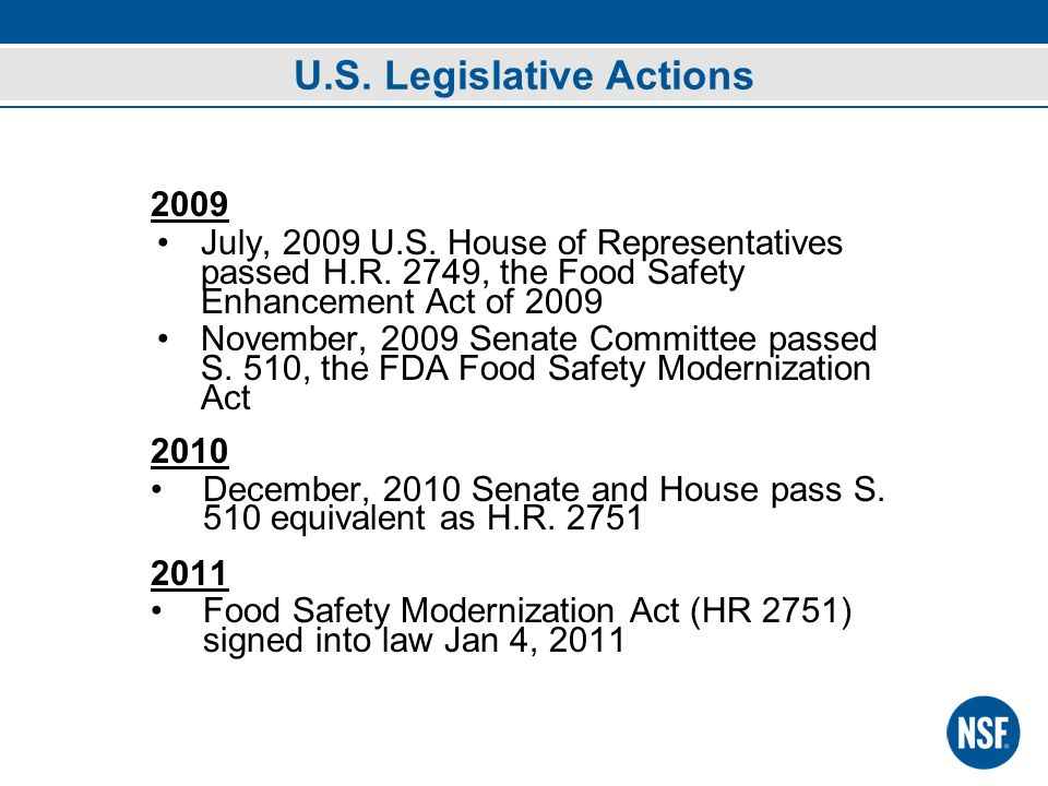 2009 July, 2009 U.S. House of Representatives passed H.R.
