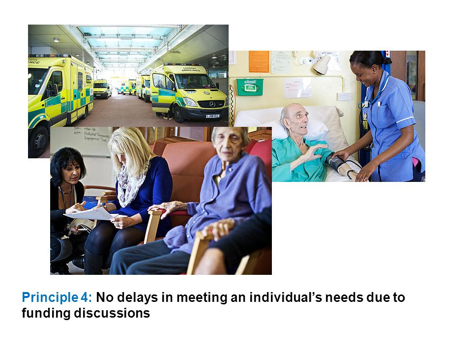 Principle 4: No delays in meeting an individual's needs due to funding discussions