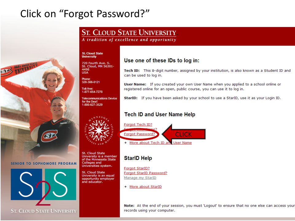 Click on Forgot Password CLICK