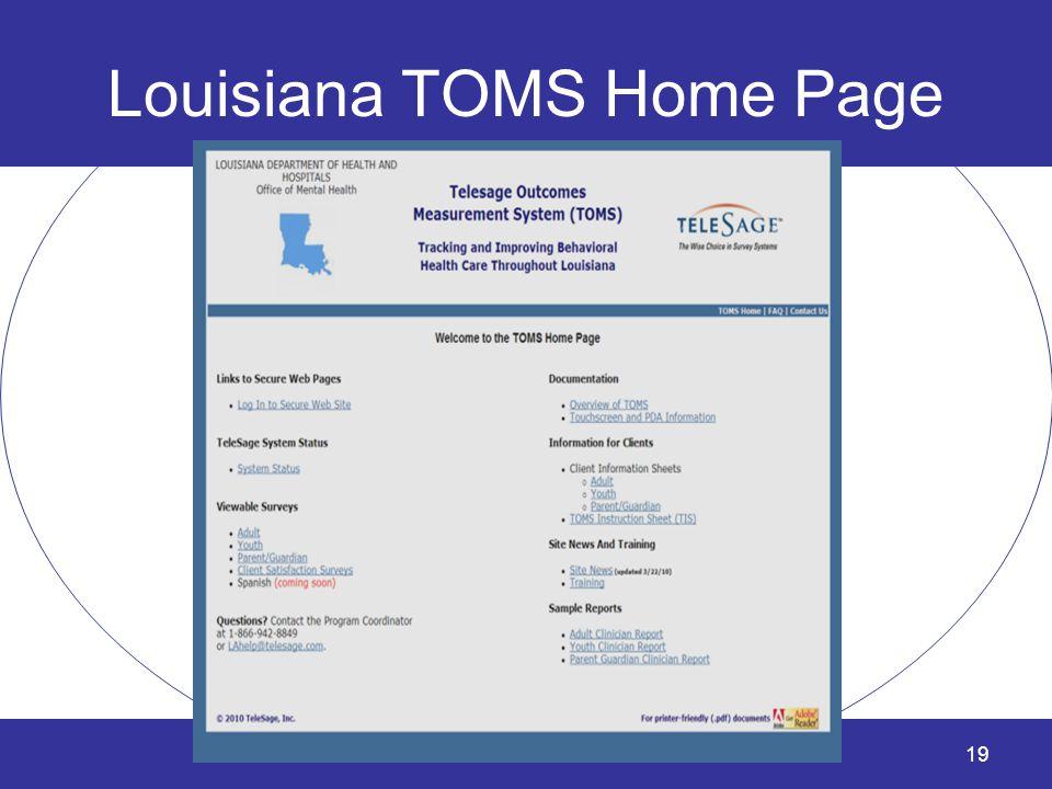 Louisiana TOMS Home Page 19