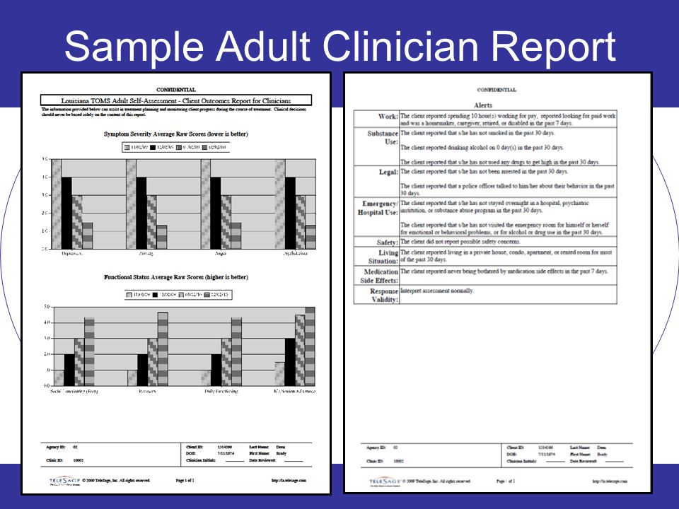 Sample Adult Clinician Report 22