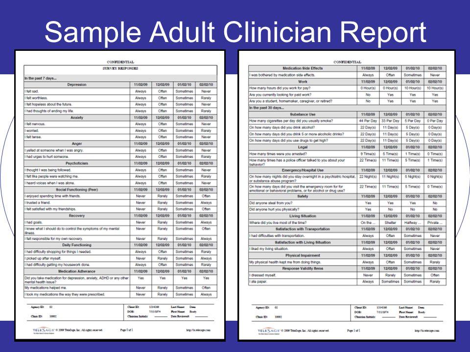 Sample Adult Clinician Report 23