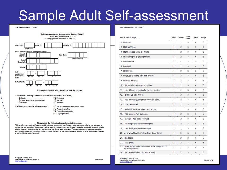 24 Sample Adult Self-assessment