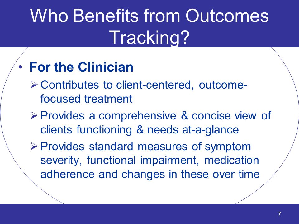 What are the Benefits of Outcomes Tracking.