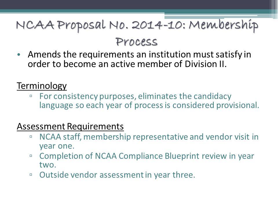 NCAA Proposal No.