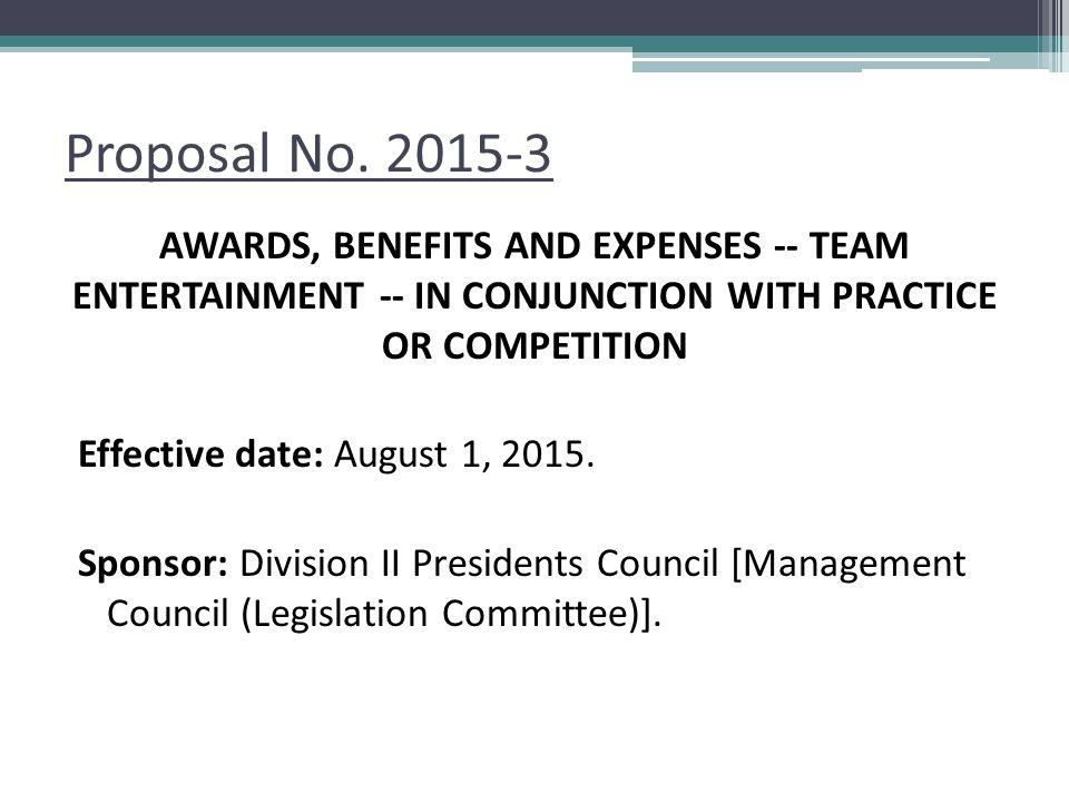Proposal No.
