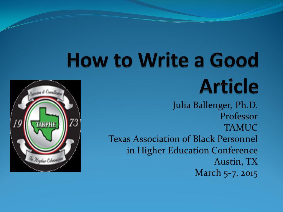 Julia Ballenger, Ph.D.