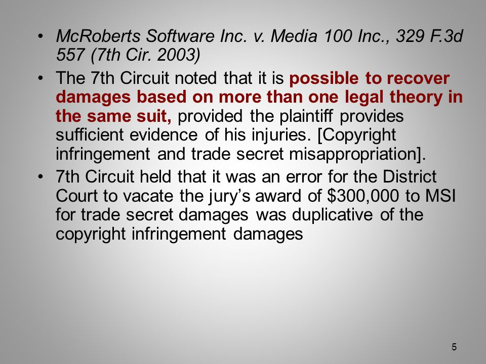 McRoberts Software Inc. v. Media 100 Inc., 329 F.3d 557 (7th Cir.