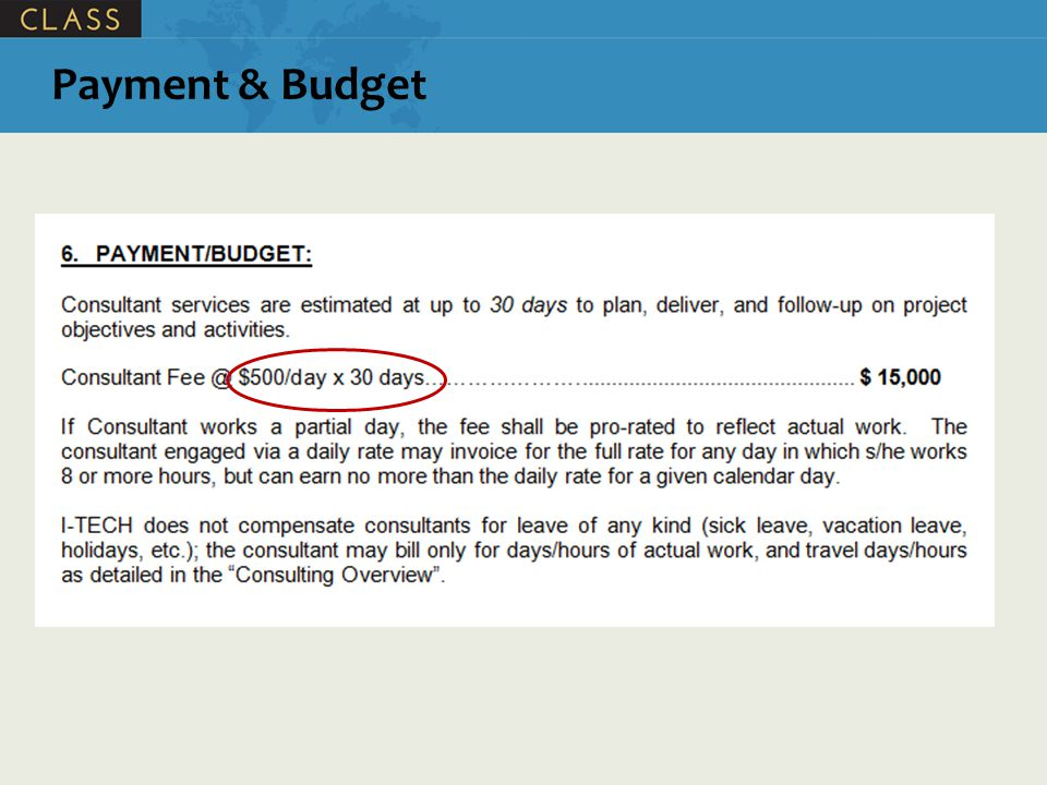 Payment & Budget