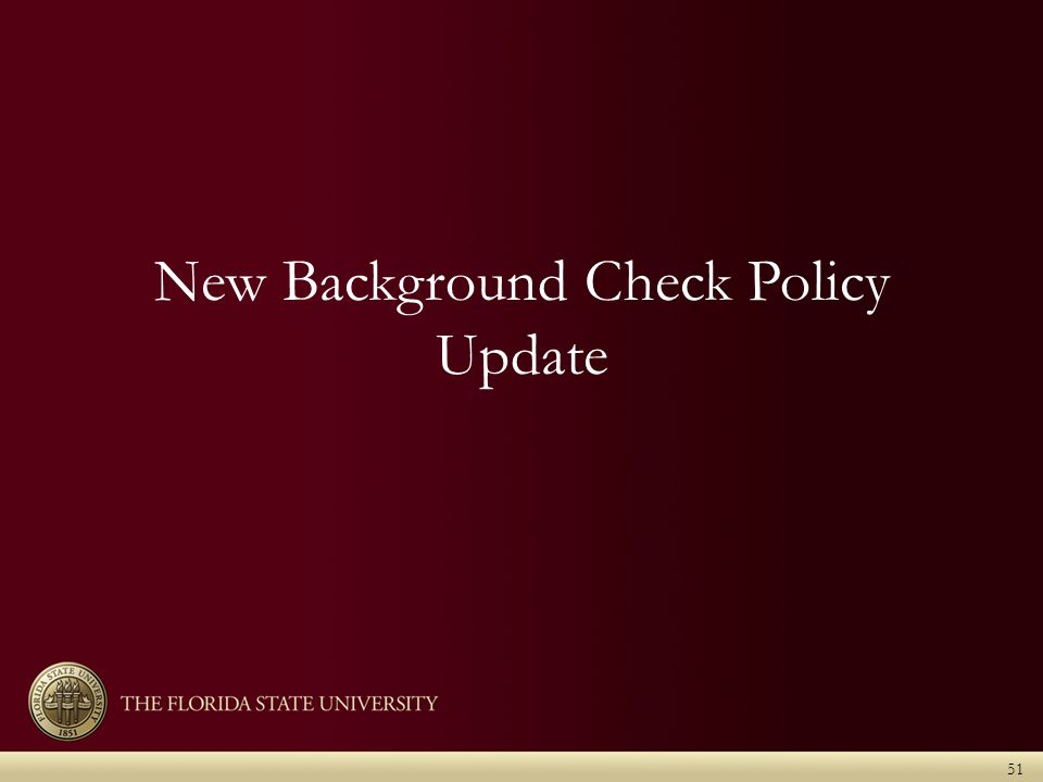 New Background Check Policy Update 51