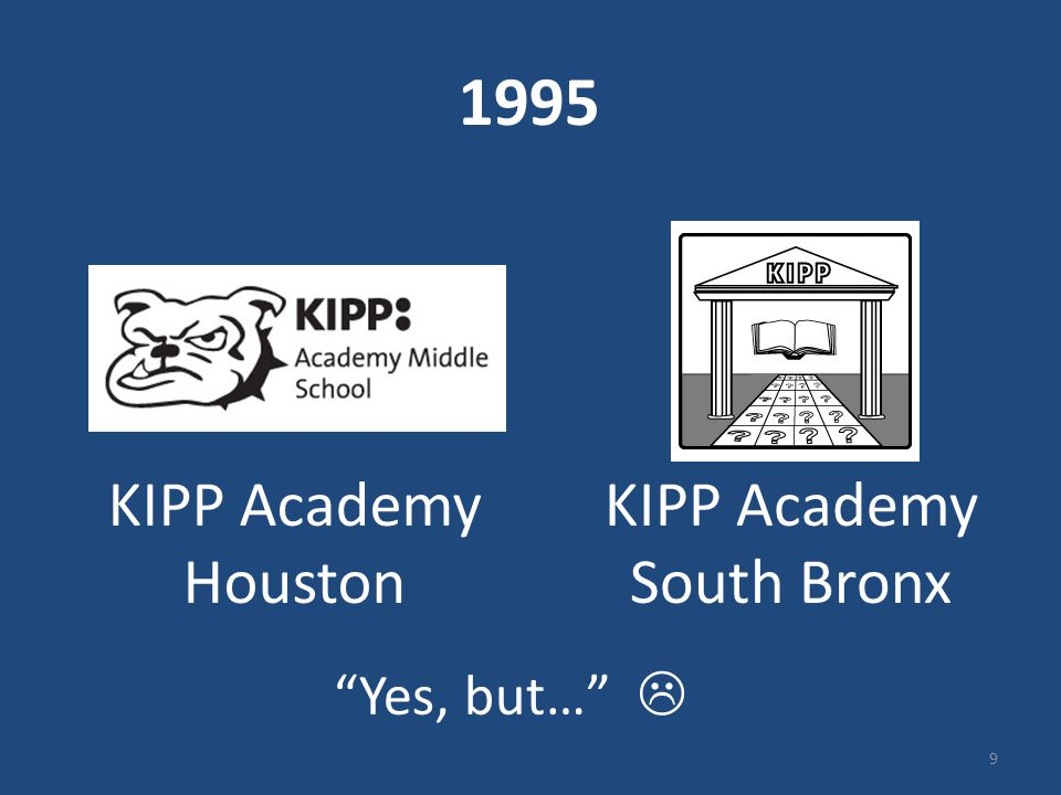 "1995 KIPP Academy South Bronx KIPP Academy Houston ""Yes, but…""  9"