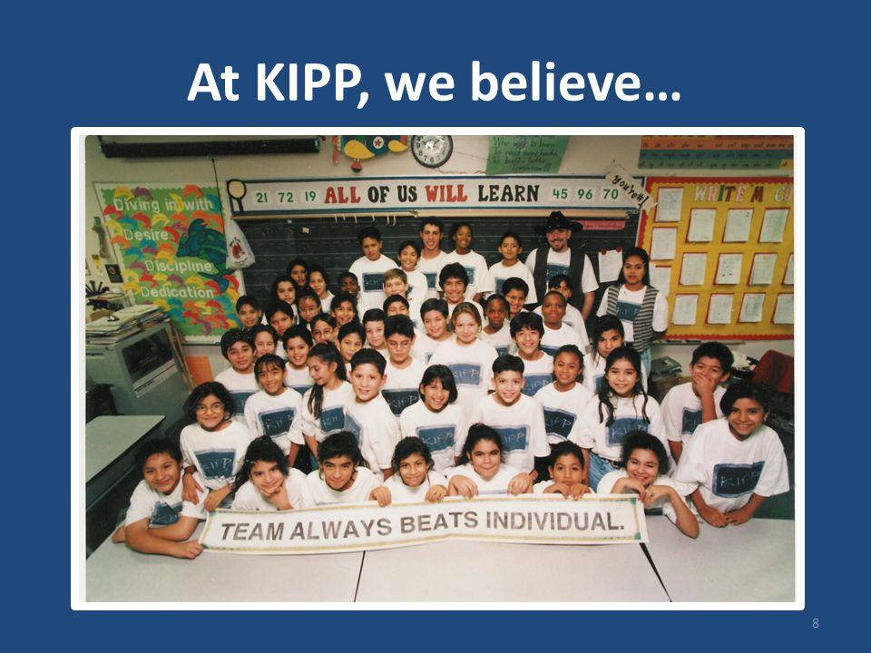 At KIPP, we believe… 8