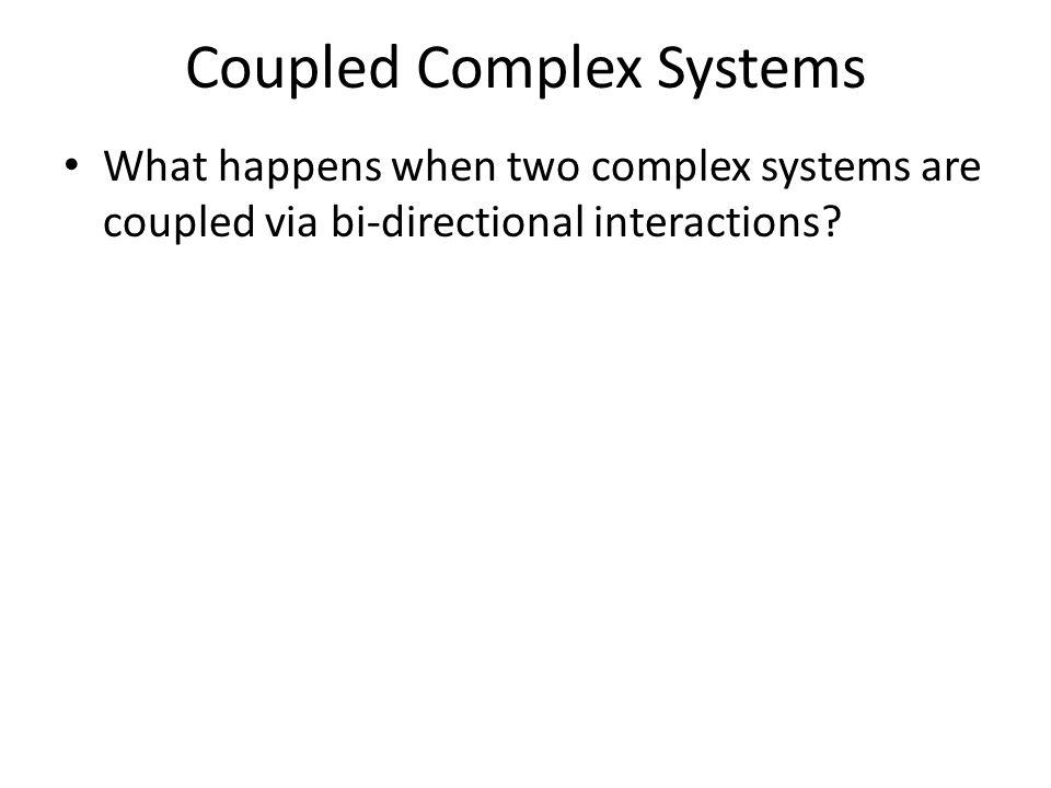 Complex Systems Bertschinger & Natschläger (2004)