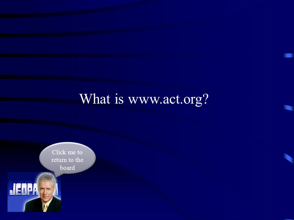 The web address to register for your ACT