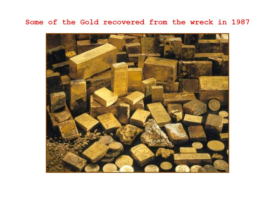 Some of the Gold recovered from the wreck in 1987