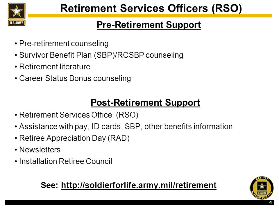 5 http://soldierforlife.army.mil/retirement The NEW Retirement Services Website