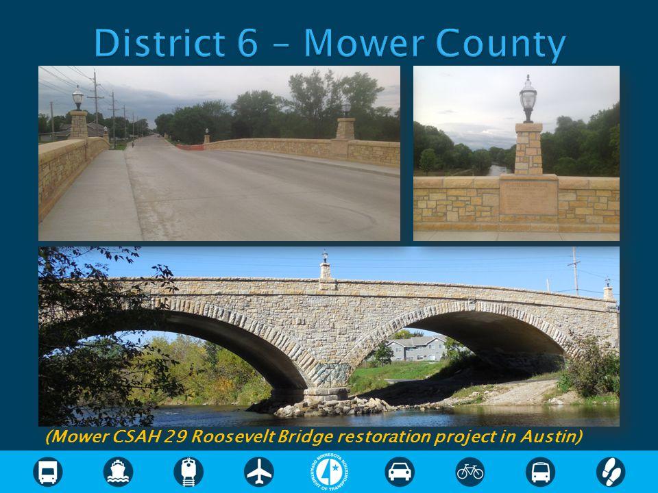 (Mower CSAH 29 Roosevelt Bridge restoration project in Austin)