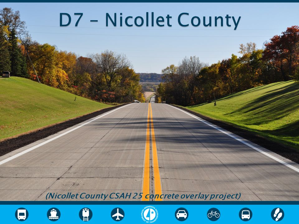 (Nicollet County CSAH 25 concrete overlay project)
