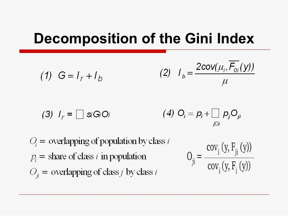 Decomposition of the Gini Index