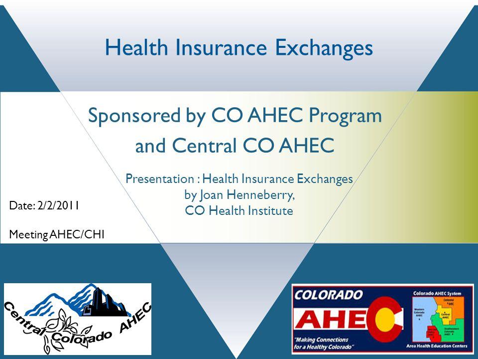 A Presentation of the Colorado Health Institute 303 E.
