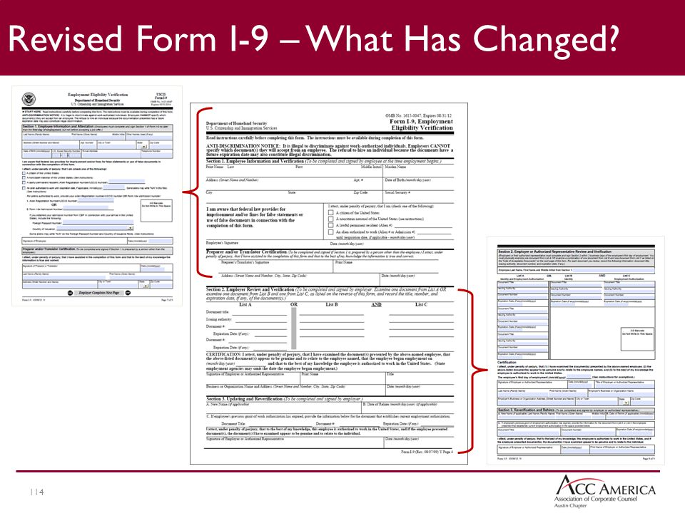 114 Revised Form I-9 – What Has Changed?
