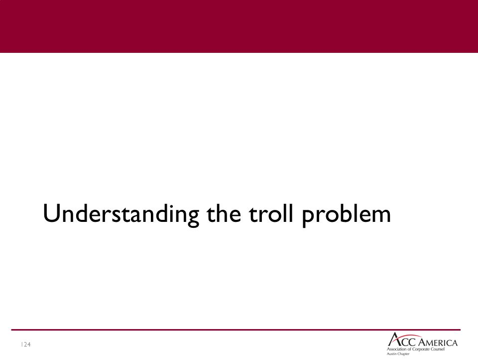 124 Understanding the troll problem