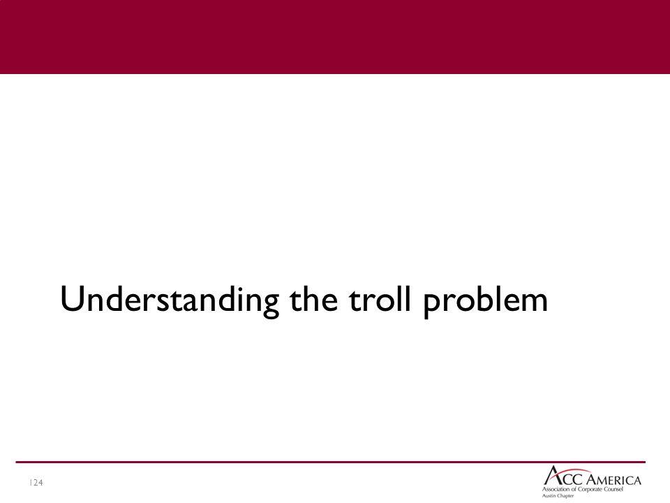 124 Understanding the troll problem