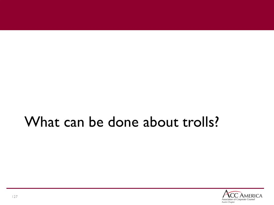 127 What can be done about trolls?