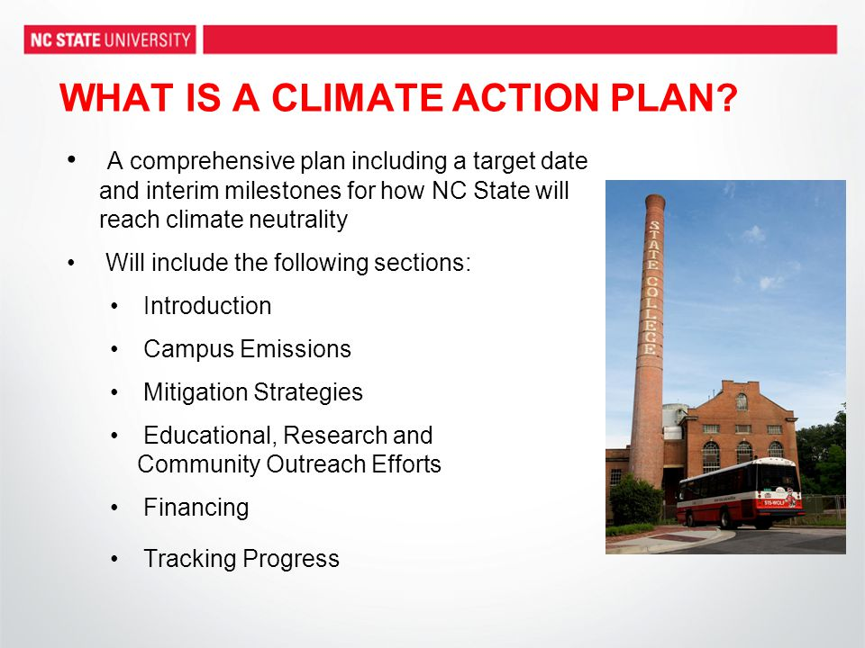 WHAT IS A CLIMATE ACTION PLAN.
