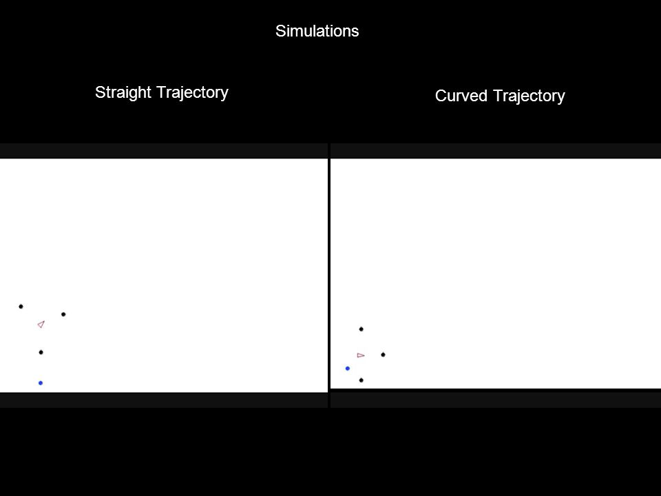 Simulations Straight Trajectory Curved Trajectory