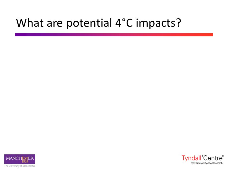 What are potential 4°C impacts?