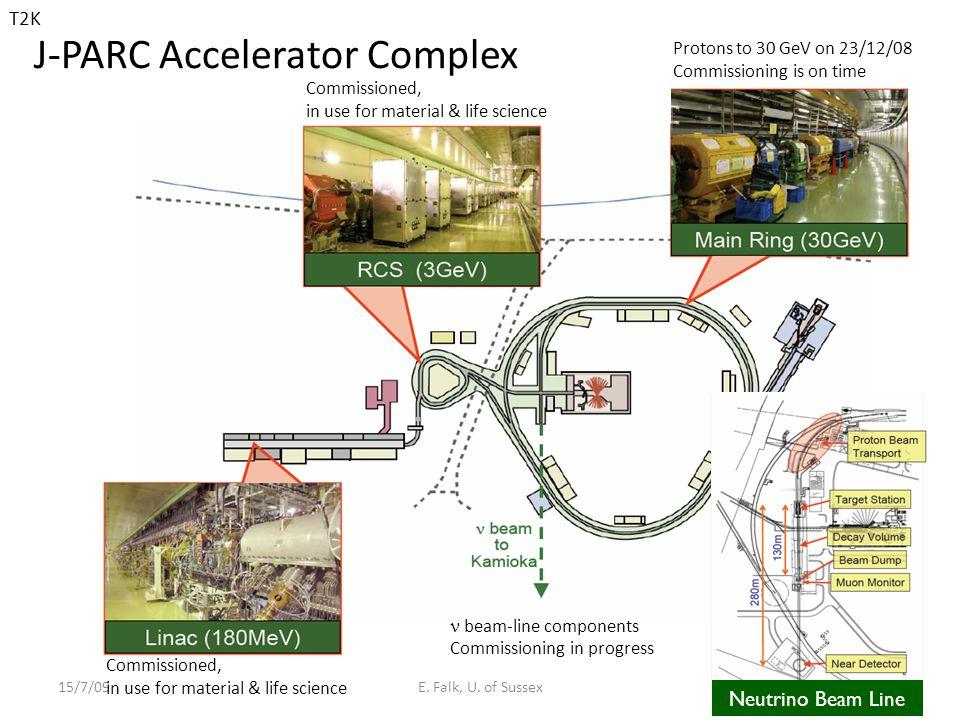 J-PARC Accelerator Complex 15/7/09E.Falk, U.