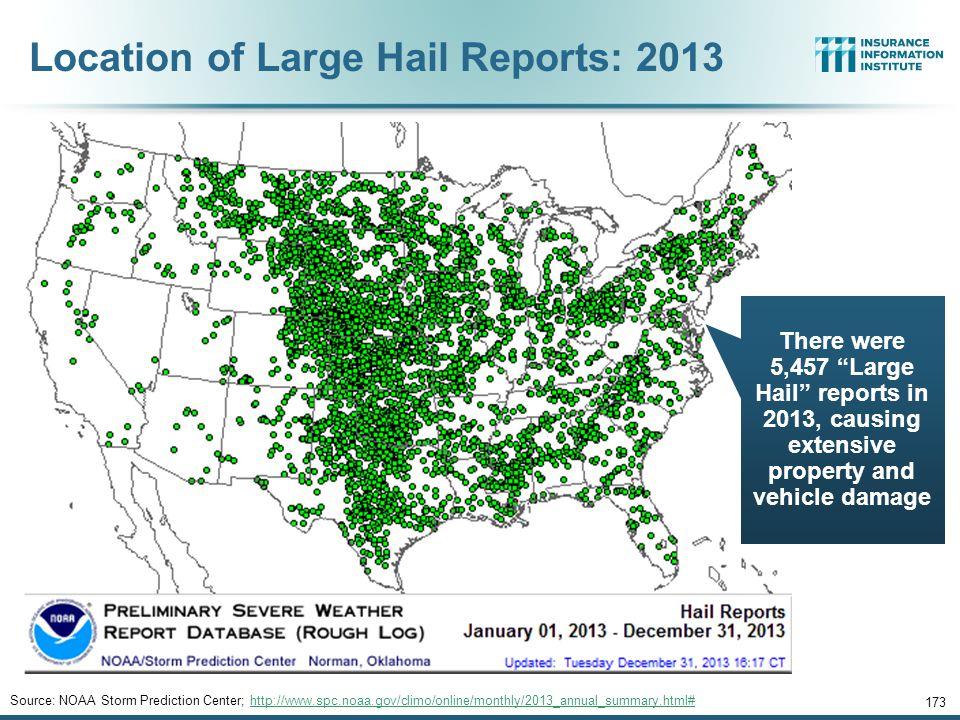 U.S. Tornado Count, 2005-2013* 172 *Through Dec. 31, 2013. Source: http://www.spc.noaa.gov/wcm/.http://www.spc.noaa.gov/wcm/ There were 1,897 tornadoe