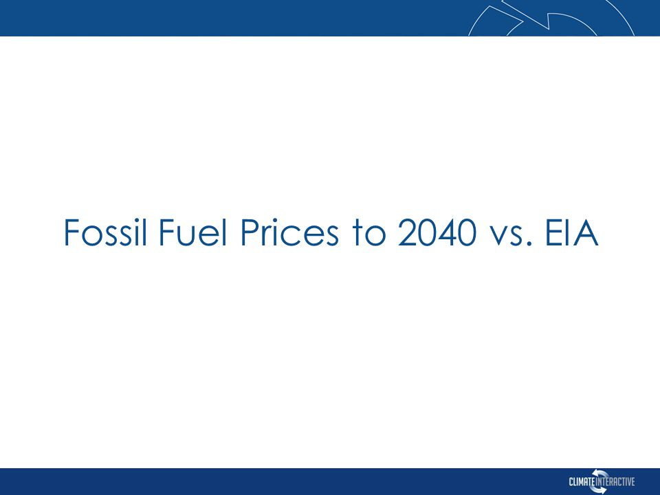 Fossil Fuel Prices to 2040 vs. EIA