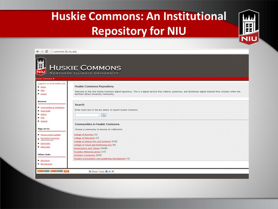 Huskie Commons: An Institutional Repository for NIU