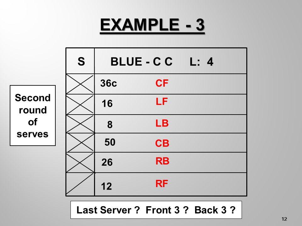 11 Last Server . Front 3 . Back 3 .