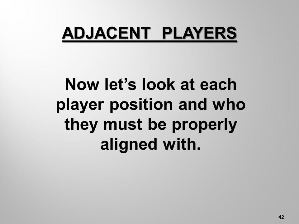 41 Must be Player Aligned with RB RF CF LF LB CB CF, LB, RB LF CF RF LB CBRB NET ADJACENT PLAYERS - 3.b.