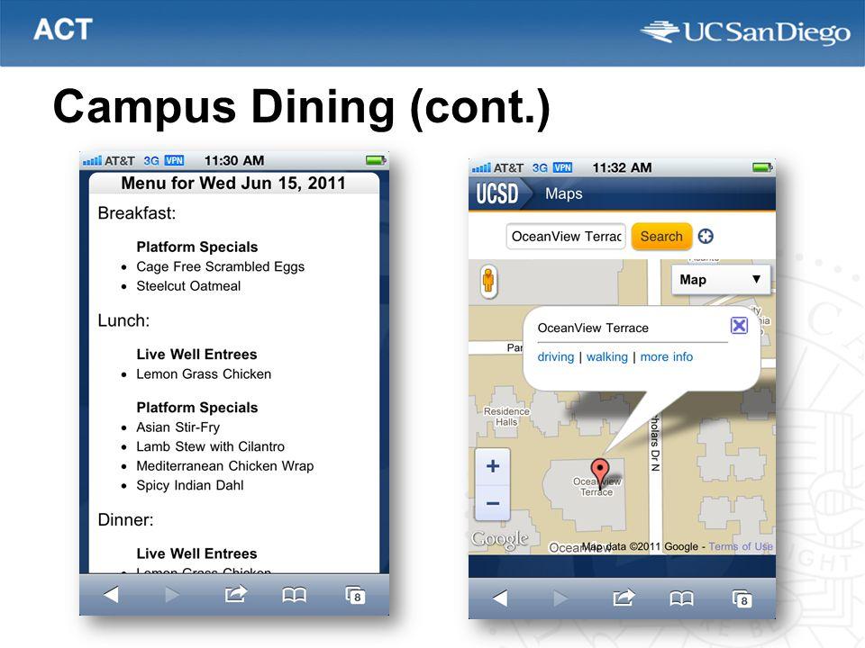 Campus Dining (cont.)